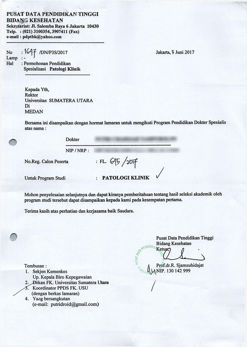 Contoh Surat Izin Dari Sekretariat Bersama Fakultas